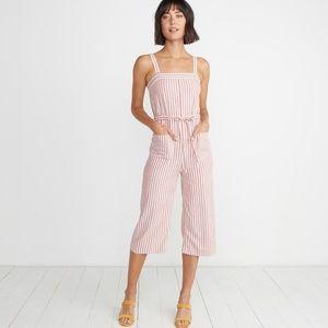 NEW!!! Womens Rita Jumpsuit in Cherry Stripe Sz S
